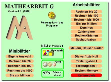 Mathearbeit G: Haben-muss-Programm
