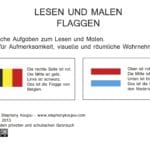 Lesen und malen: Flaggen