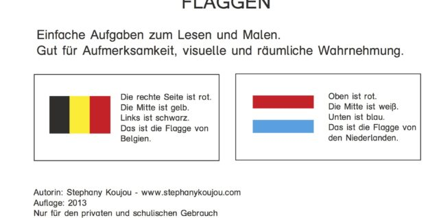 lesen, knobeln, Flaggen