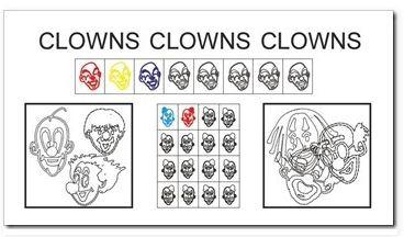 Clowns, Wahrnehmung, Fasching, Legasthenie, Dyskalkulie
