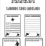Ninja: Lesen und Malen