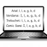Schriftart: Vorinstallierte Fonts
