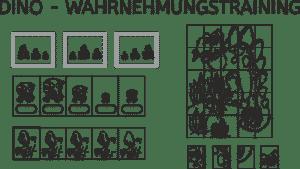 Dino, Wahrnehmungstraining, visuelle Wahrnehmung, räumliche Wahrnehmung, Legasthenie, Dyskalkulie, Eltern, Kinder, Schule, Download, Training, Arbeitsblatt