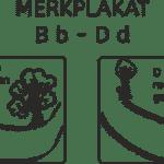 Merkplakat: B b – D d