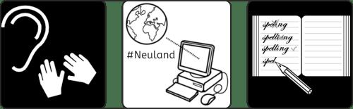 Neuland, sprechende Hände, Rechtschreibung, Legasthenie, LRS, Social Media, Schule