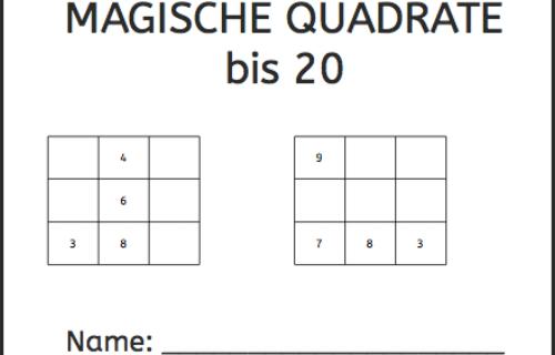 Magisches Quadrat, Mathe, Rechnen, Dyskalkulie, Dyskalkulietraining, Knobelaufgabe, knobeln, Eltern, Kinder, Lehrer
