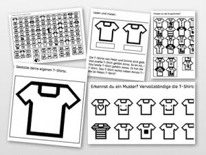 T-Shirts, Wahrnehmung, Arbeitsblatt, Eltern, Kinder, Legasthenie, Dyskalkulie, Training