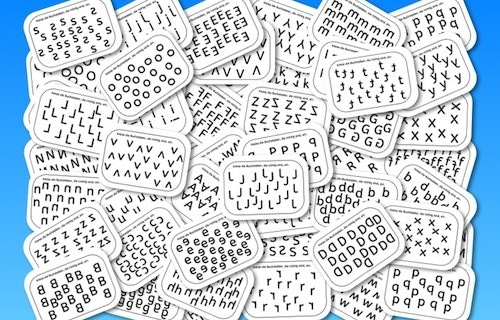 Buchstabenkartei, Buchstaben, Lesen, Legasthenie, Dyskalkulie, Wahrnehmung, Arbeitsblatt, Lehrer, Kinder, Eltern
