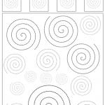 Spiralen nachfahren und unterscheiden