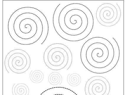 Spiralen, Arbeitsblatt, Wahrnehmung, Legasthenie, Dyskalkulie, Eltern, Kinder, Lehrer, Aufmerksamkeit, Feinmotorik, Hand-Auge-Koordination