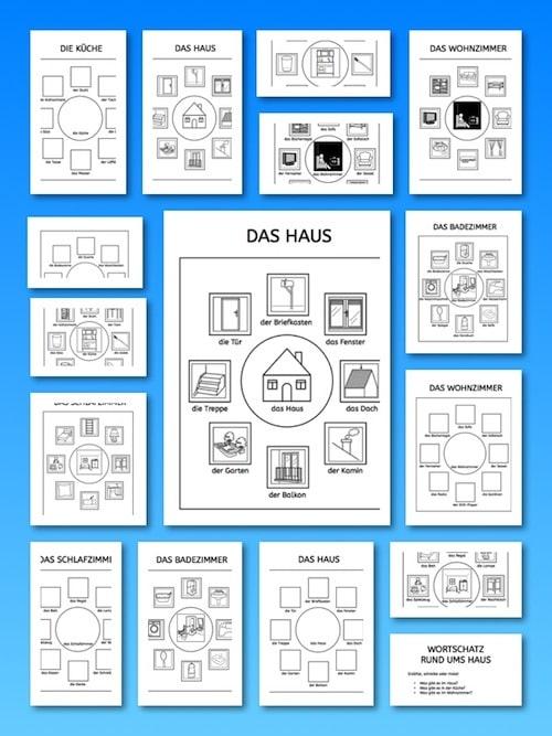 wortschatz rund ums haus. Black Bedroom Furniture Sets. Home Design Ideas