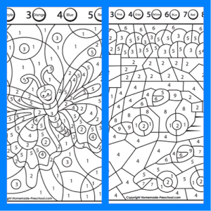 Malen nach Zahlen, malen, Wahrnehmung, optische Differenzierung, visuelle Wahrnehmung, Legasthenie, Dyskalkulie, Eltern, Kinder, Arbeitsblätter