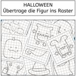 Halloween: Übertrage die Figur ins Raster