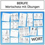 Berufe: Wortschatzkarten und Übungen