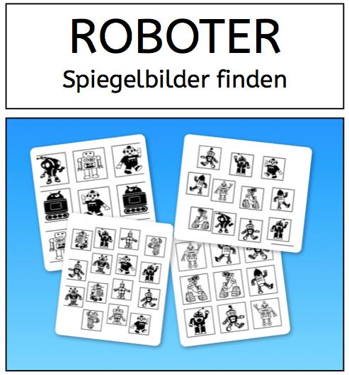 Roboter, Wahrnehmung, Legasthenie, Dyskalkulie, Arbeitsblatt, Eltern, Kinder, Schule, Legasthenietraining, Dyskalkulietraining, kostenlos, Download, Arbeitsblatt