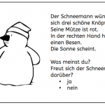 Lesemalblätter: Schneemann