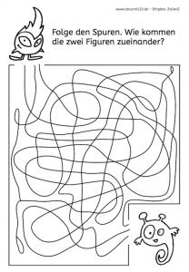 Spuren, Wahrnehmung, Optische Differenzierung, Räumliche Wahrnehmung, Legasthenie, Dyskalkulie, Eltern, Kinder, Arbeitsblatt, kostenlos, Lehrer, Schule
