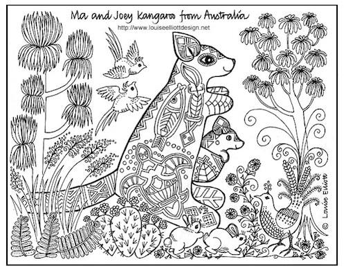 Aboriginal Animal Colouring Pages To Print : Anspruchsvolle malvorlagen