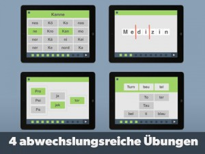 App, Silbentrainer, Silben, Lesen, Legasthenie, Legasthenietraining, ipad