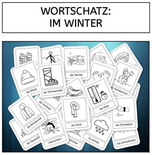 Wortschatz, Winter, Lesen, DAZ, DAF, Sprachförderung, Sprachunterricht