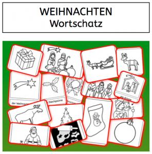 Weihnachten, Wortschatz, DAZ, DAF, Sprachförderung, Lesen, Schreiben, Grundwortschatz, Legasthenie, Eltern, Kinder, Schule, kostenlos
