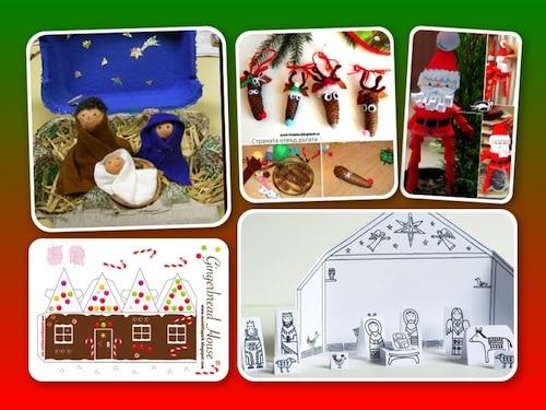 Weihnachten, Basteln, Papier, kreativ, Eltern, Kinder