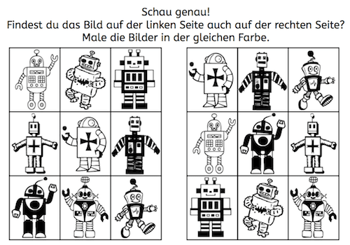 Roboter: Paare finden