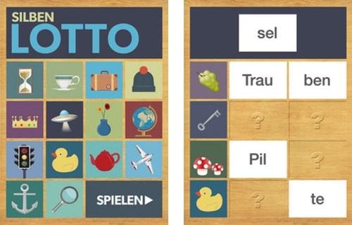 App, Silbenlotto, Marc Sockel, Lesen, lernen, ipad, Kinder, Eltern, Grundschule, Förderschule