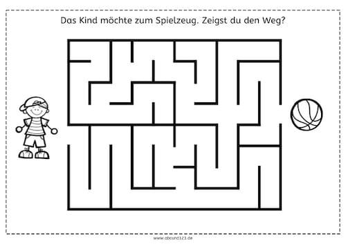 Einfachere Labyrinthe, Labyrinthe, Wahrnehmung, räumliche Orientierung, visuelle Wahrnehmung, Arbeitsblatt, kostenlos, Eltern, Kinder, Legasthenie, Dyskalkulie