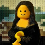 Mona Lisa aus Lego und Toast