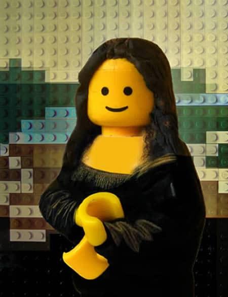 Mona Lisa, Lego, Gemälde, Kunst, kreativ