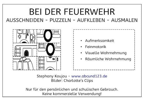 bei der feuerwehr puzzles. Black Bedroom Furniture Sets. Home Design Ideas