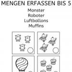 Simultanerfassung: Monster, Roboter, Luftballons und Muffins