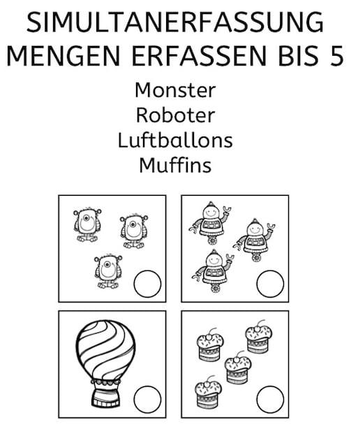 simultanerfassung monster roboter luftballons und muffins. Black Bedroom Furniture Sets. Home Design Ideas