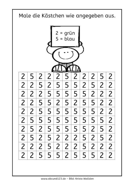 Buchstaben und Ziffern, Unterschied, b-d, a-o, u-n, 2-5, 9-6, 1-7, optische Differenzierung, optische Wahrnehmung, räumliche Wahrnehmung, AFS-Methode, Legasthenie, Dyskalkulie, Buchstaben, Zahlen, Vorschule, Förderschule, Grundschule, lernen, Eltern, Kinder, Arbeitsblatt, kostenlos