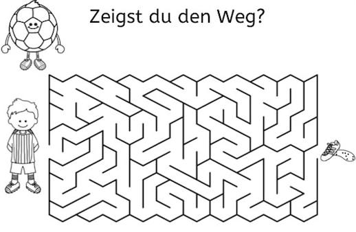 Fußball-Labyrinthe