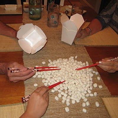 Wer schnappt die meisten Marshmallows, Feinmotorik, kreativ, Eltern, Kinder, Legasthenie, Dyskalkulie