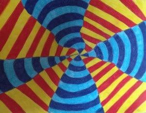 Optische Kunst, Kathy Hasbro, OP art, Aufmerksamkeit, Feinmotorik, Wahrnehmung, Entspannung, Kinder, Erwachsene