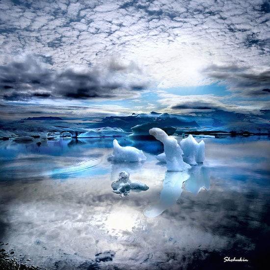 Island, Aurora Borealis, Natur, Zen