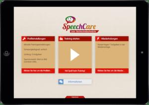 Screenshot: SpeechCare LRS App