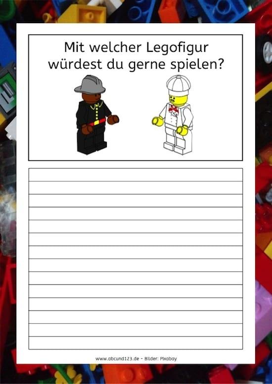 Mit welcher Legofigur würdest du gerne spielen?, Lego, schreiben, Schreibanlass, Kinder, Legasthenie, DAF, DAZ, Wortschatz, Koujou, Stephany Koujou