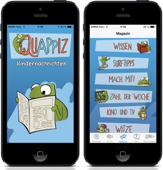 Quappiz, App, Nachrichten, Kinder, lesen