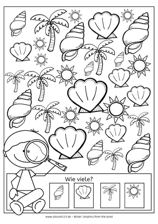 Arbeitsblatt Fische Grundschule : Tag ich sehe