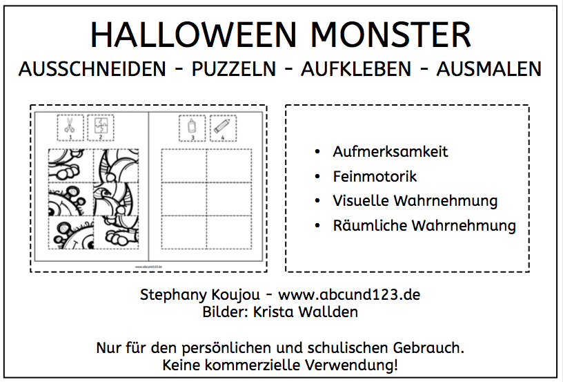 Monster Klebepuzzles