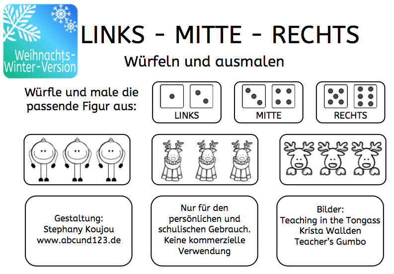 Links – Mitte – Rechts (Weihnachts-Winter-Version)