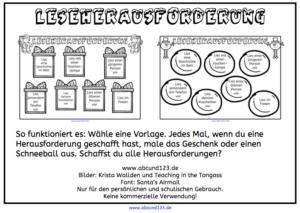 Leseherausforderung, lesen, Legasthenie, Legasthenietraining, AFS-Methode, lesen1, download1, Stephany Koujou, Winter, Weihnachten