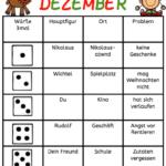 Würfeln und Schreiben im Dezember