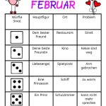 Würfeln und schreiben im Februar
