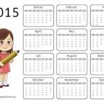Jahreskalender mit Übungen