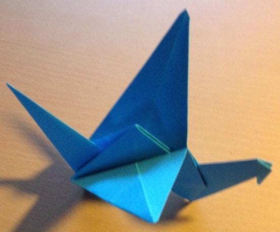 Vogel falten, Origami, Linktipp1, Feinmotorik, Aufmerksamkeit, Wahrnehmung, AFS-Methode